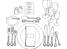 Six-Course place setting