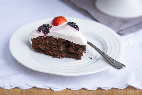 Mondo Mulia Cocoa Hazelnut Cake Strawberry Whipped Cream-1