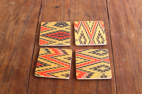 wolfum flame stitch coasters