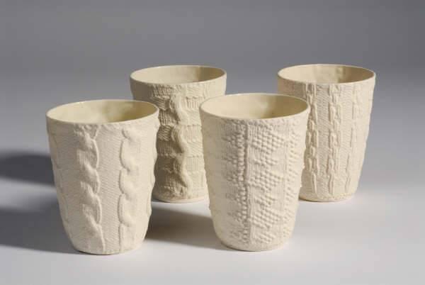 Annette Bugansky Ceramic Knit Texture Cups