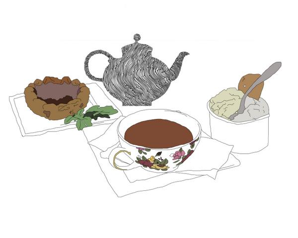 Claire Heffer Illustration Madeleine's savoury & sweet flat