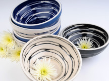Rowena Gilbert Ceramic Low Swirl Bowls