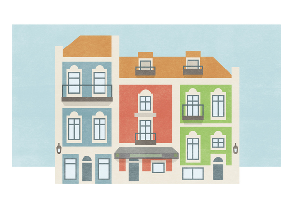 Philip Kennedy Illustration Faience Tiles on Portuguese Buildings