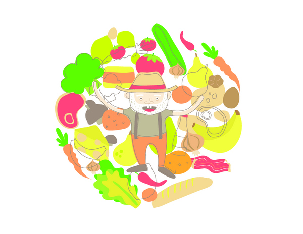Andrea Davalos Illustration for Countlan Issue 05 Food to Consumer