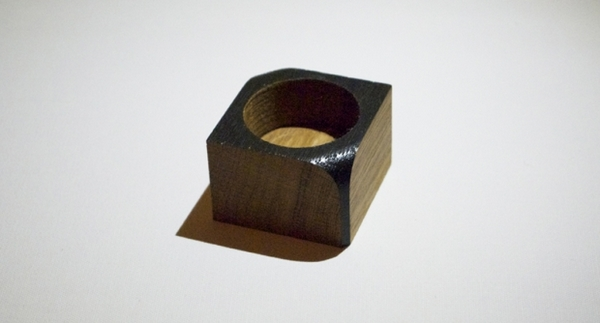 korridor design 1 tealight black oak