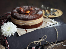 Monica Lazar Eat Love and Be Happy Chocolate Pear Cake