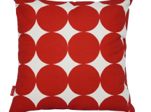 Camp Cirrus Shop Moln Rund Red Pillow Cover