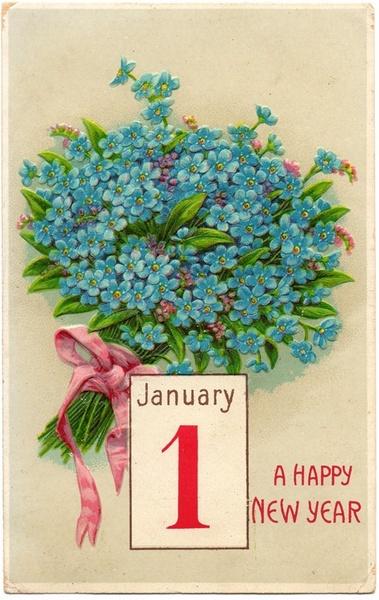 Vintage NYE Card 1