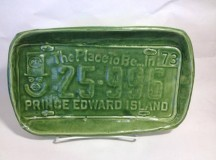 Suzanne Scott Village Pottery License Plate Tray PEI