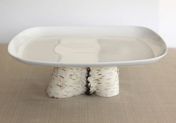 simply sophie White Pedestal Cake Stand BRIKA