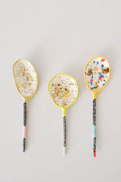Coloured Ceramic Spoons by Suzanne Sulivan