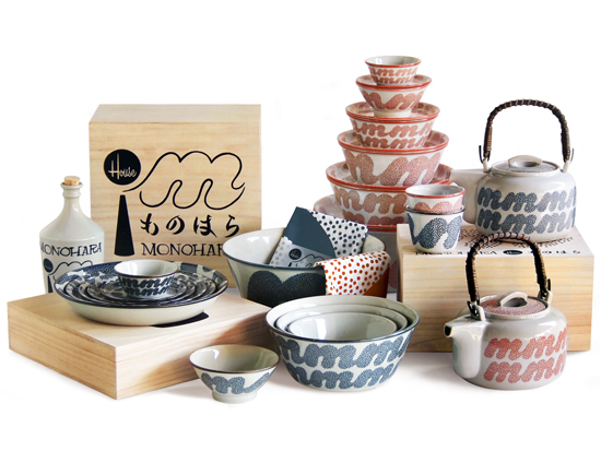 House Industries Monohara Ceramic Collection from Hasami