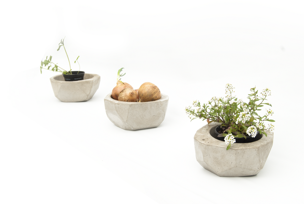 Malin flower holders concrete